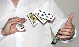 Negociando cartões Foto de Stock Royalty Free