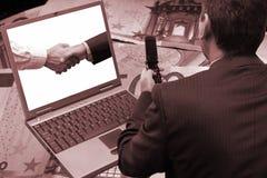 Negociando o software Imagens de Stock