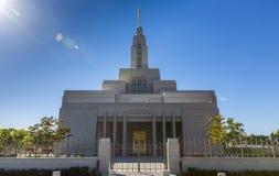 Negociante de panos Utá, templo de LDS Foto de Stock Royalty Free