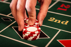 Negociante do casino Fotografia de Stock