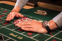 Negociante do casino Foto de Stock Royalty Free