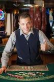 Negociante do casino Imagens de Stock