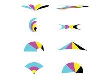 Negocio abstracto Logo Objects del icono de CMYK Foto de archivo libre de regalías