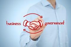Negocio al gobierno B2G stock de ilustración