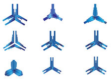 Negocio azul abstracto Logo Objects Fotos de archivo libres de regalías