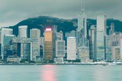 Negocio central Hong Kong céntrico de la ciudad Imágenes de archivo libres de regalías