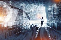 Negocio, comunicación, tecnología y concepto de la gente - negocio imagen de archivo