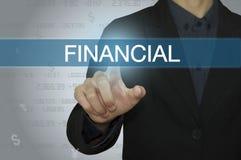 Negocio con la contabilidad y el concepto financiero Imagen de archivo libre de regalías