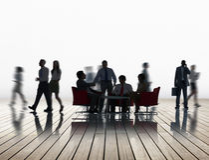 Negocio corporativo Team Discussion Collaboration Concept Imagen de archivo libre de regalías