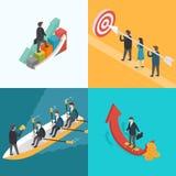 Negocio, crecimiento, trabajo en equipo, concepto de la blanco