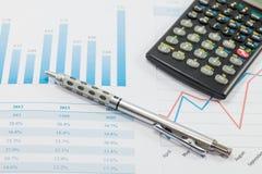 Negocio de demostración e informe financiero Imágenes de archivo libres de regalías