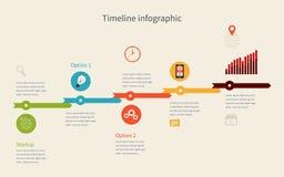 Negocio de Infographic de la cronología con los diagramas libre illustration