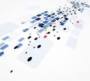 Negocio de la informática de Internet futurista de la ciencia alto Stock de ilustración