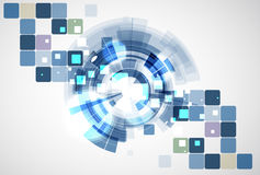 Negocio de la informática de Internet futurista de la ciencia alto Imagen de archivo libre de regalías