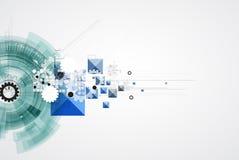 Negocio de la informática de Internet futurista de la ciencia alto Imagen de archivo