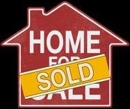 Negocio de la muestra del hogar de Real Estate Fotos de archivo
