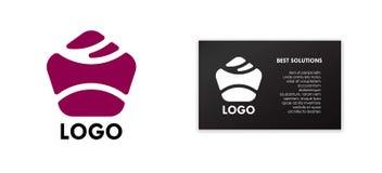 Negocio de la muestra del icono del diseño del símbolo del vector del logotipo stock de ilustración
