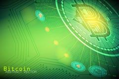 Negocio de la muestra de moneda de Bitcoin y conceptos financieros libre illustration