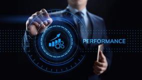 Negocio de la optimizaci?n del aumento del indicador de rendimiento clave de KPI y proceso industrial imagen de archivo