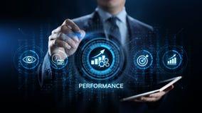 Negocio de la optimizaci?n del aumento del indicador de rendimiento clave de KPI y proceso industrial imagen de archivo libre de regalías