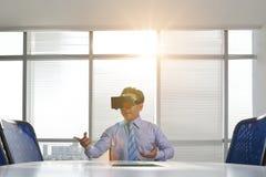 Negocio de la realidad virtual Imagen de archivo
