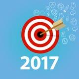 Negocio de la resolución del Año Nuevo del control de la lista de tarea de las metas de la blanco personal Fotos de archivo libres de regalías
