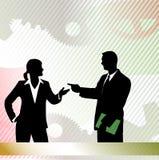 Negocio de la reunión de socios ilustración del vector