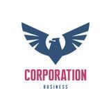Negocio de la sociedad - Eagle Logo Sign Fotografía de archivo libre de regalías