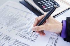 Negocio de las finanzas y de la contabilidad foto de archivo