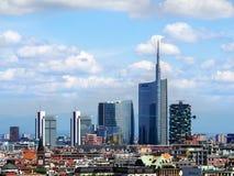 Negocio de Milán céntrico, mayo de 2015 Fotografía de archivo libre de regalías