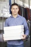 Negocio de moda de Running On Line del hombre de negocios Imágenes de archivo libres de regalías