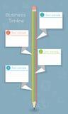 Negocio de nuevo a cronología infographic de la escuela Imagen de archivo