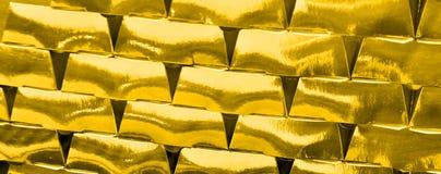 Negocio de oro, bandera financiera Imagenes de archivo