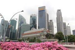 Negocio de Singapur y distrito financiero Fotografía de archivo libre de regalías