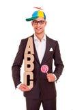 Negocio del ABC del concepto del entrenamiento de la escritura del hombre de negocios Fotos de archivo