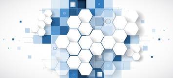 Negocio del fondo de la tecnología y dirección abstractos del desarrollo Imagenes de archivo