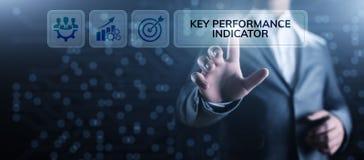 Negocio del indicador de rendimiento clave de KPI y concepto industrial del an?lisis en la pantalla libre illustration