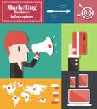Negocio del márketing stock de ilustración