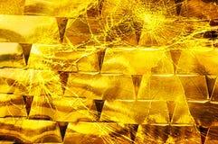 Negocio del oro, inversión aventurada Imagen de archivo libre de regalías