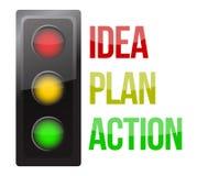 Negocio del planeamiento del diseño del semáforo Imagen de archivo