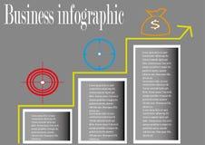 Negocio del progreso infographic Imágenes de archivo libres de regalías