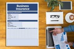 Negocio del trabajo de la gestión del seguro de negocio Fotografía de archivo libre de regalías