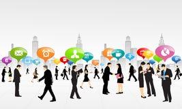 Negocio del trabajo social ilustración del vector