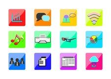 Negocio del web de los iconos Fotografía de archivo libre de regalías