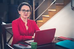 Business from home. Woman developing her business from home stock photos