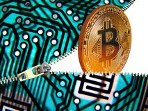 Negocio digital de Bitcoin fotografía de archivo