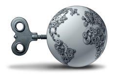 Negocio económico del mundo stock de ilustración