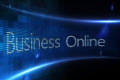 Negocio en línea en la pantalla digital Imagenes de archivo