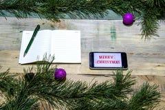 Negocio en la Navidad Foto de archivo libre de regalías