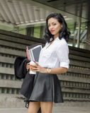 Negocio exótico del estudiante de mujer joven de la belleza imágenes de archivo libres de regalías